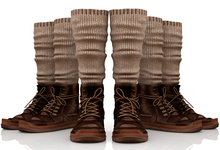 fame femme: Kama - Unisex Boots - Brown