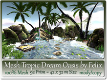 Mesh Tropic Dream Oasis 92 Prim=42x32 m Size copy-mody