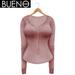 BUENO - Henley Shirt - Bubblegum