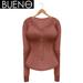 BUENO - Henley Shirt - Dusk
