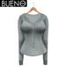 BUENO - Henley Shirt - Gray