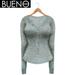BUENO - Henley Shirt - Sky Floral