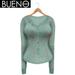 BUENO - Henley Shirt - WaterLilly