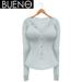 BUENO - Henley Shirt - White