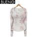 BUENO-Henley Shirt-White Floral