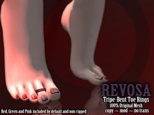 REVOSA [Desirably] Triple-Bent Toe Rings