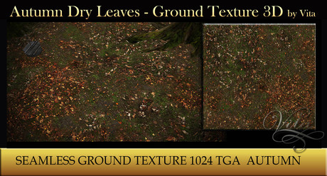 Vita's Textures - AUTUMN DRY LEAVES 3D Seamless 1024