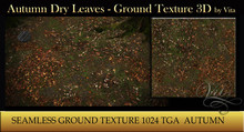 Vita's Textures - AUTUMN DRY LEAVES 3D Seamless 1024
