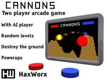 HaxWorx cannons retro arcade game
