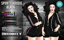 !NFINITY Sporty Hoodie - BLACK  **  BUY NOW - October
