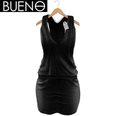 BUENO - Short Dress - Black