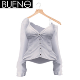 BUENO-Lazy Day Shirt-White