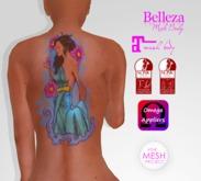 TSB ::: Tattoo woman petals caress