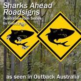 Shark Road Signs