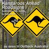 Kangaroo Road Signs