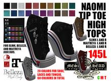 Mesh Head - Naomi Tip Toe High Tops - MAITREYA / SLINK / BELLEZA