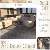 ~ASW~ The Art Deco Couch~ White