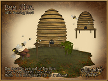 *GALLI* - MESH - Bee Hive with Homing Bees - 1x with plants etc & 1x without - Low LI
