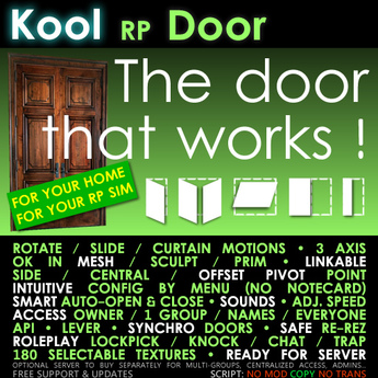 Kool RP Door script • Lockpickable, Roleplay, linkable, for mesh