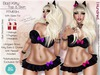 *Halloween PROMO* - 1 Hundred. Bad Kitty Top & Skirt. Pink & Violet