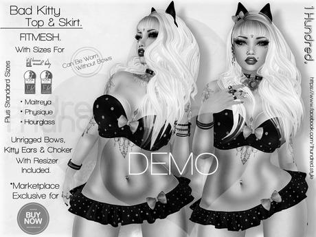 *PROMO* - 1 Hundred. Bad Kitty Top & Skirt DEMO