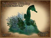 *GALLI* - Mesh - Seahorse Underwater Display with Corals, Plants & Rock - copy & mod