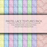 Soft Pastel Lace Textures Creators Kit FULL PERM