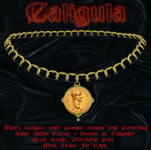 """""""Caligula"""" Ancient Rome themed man's necklace"""