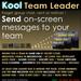 Kool Team Leader hud - On-screen messaging