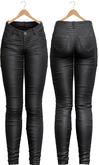 Blueberry - Tali Leather Pants - Maitreya, Belleza (All), Slink Physique Hourglass - ( Mesh ) - Black