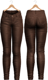 Blueberry - Tali Leather Pants - Maitreya, Belleza (All), Slink Physique Hourglass - ( Mesh ) - Brown