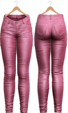 Blueberry - Tali Leather Pants - Maitreya, Belleza (All), Slink Physique Hourglass - ( Mesh ) - Pink