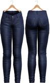 Blueberry - Tali Leather Pants - Maitreya, Belleza (All), Slink Physique Hourglass - ( Mesh ) - Sky