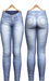 Blueberry - Tali Faded Jeans - Maitreya, Belleza (All), Slink Physique Hourglass - ( Mesh ) - Light Blue