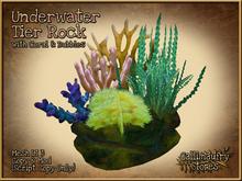 *GALLI* - MESH - Underwater Rock with Corals, Bubbles & Plants, Low LI 3, copy & mod prims