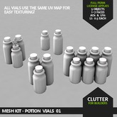 CLUTTER - Mesh Kit - Potion Vials 01