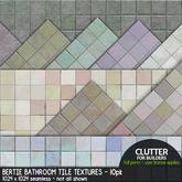 Clutter - Bertie Bathroom Tile Textures - 10-pk