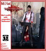 MN Men's outfit with suspenders Halloween