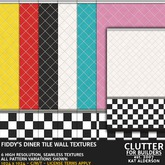 CLUTTER - Fiddy's Diner Tile Wall Textures - 6PK