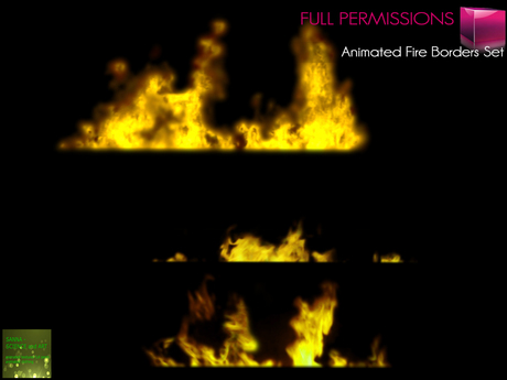 %50SUMMERSALE Full Perm MI Animated Fire Effects Panels Set