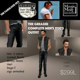 Men's complete Greaser 1950's Outfit (box)