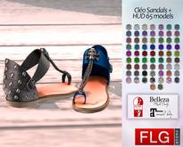 ::FLG Cleo Sandals Flat + HUD 65 Models ::