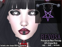 REVOSA [Sharply] Pentagram Nose Piercing