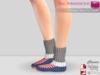 %50SUMMERSALE Full Perm Mesh Thick Flat Winter Socks