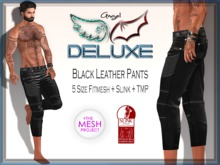 Angel DELUXE - Black Leather Pants - FITMESH + TMP + SLINK