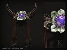 (Kunglers) Flora necklace - Lavender