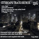 Cityscape Track surround 128x256 (9 prims)
