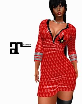 XK Maitreya Deep Space Traveller Dress Red