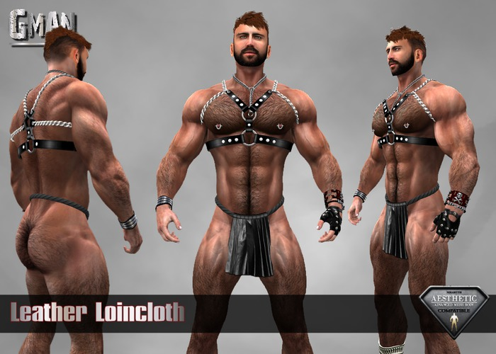 Leather Loincloth Male