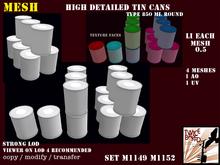 """TB"" high detailed round tin cans, 4 meshes each, type 2,  0.5 Li M1149 M1152"